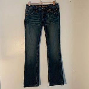 Rock Revival   dark wash boot cut jeans